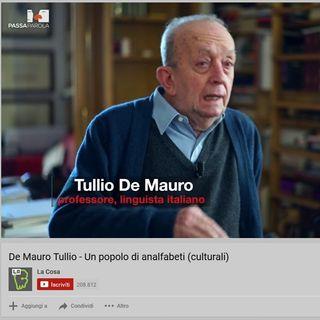Tullio de Mauro - 8 su 10 non capiscono quello che leggono