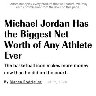 Michael Jordan Is The Richest Athlete To Ever Live