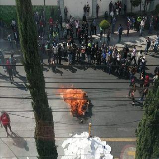 Protestan en FGJCDMX por feminicidio