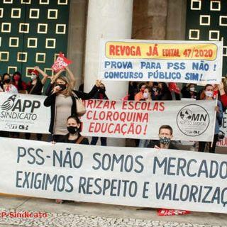 Greve de fome dos professores do Paraná