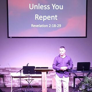 "Pastor Joe sermon ""Unless You Repent"""