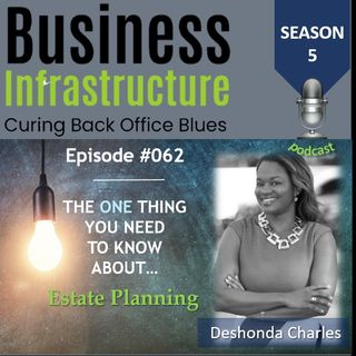 Episode 62: The One Thing You Need to Know About Estate Planning   Deshonda Charles