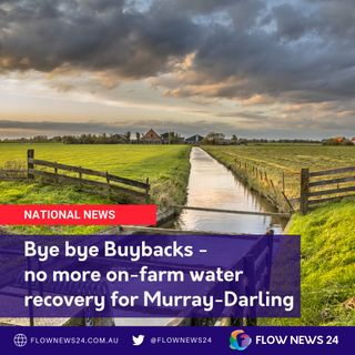 No more on-farm water recovery - Tony Pasin, federal MP for Barker in #SouthAustralia (@TonyPasin)