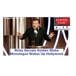 Ricky Gervais Golden Globe Monologue Wakes Up Hollywood BP011020-104