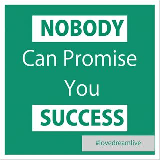 Why Nobody Can Promise You Success