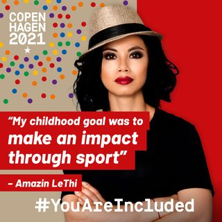 """31. """"My childhood goal was to make an impact through sport"""" - Amazin LeThi"""