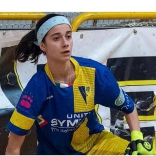 Francesca Maniero, una donna nella Serie A maschile di hockey su pista