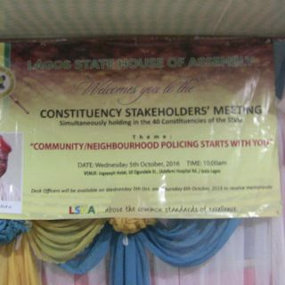Alimosho Constituency 01 Stakeholders Meeting