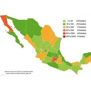 En México, 233 muertos y 3 mil 844 casos de Covid-19