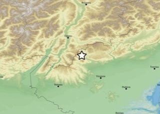 Lieve scossa di terremoto nella notte a Laghi (magnitudo 2.0)
