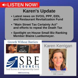 SVOG, PPP & Restaurant Revitalization Fund; Main Street Tax Certainty Act; House Small Biz Ranking Member Blaine Luetkemeyer.