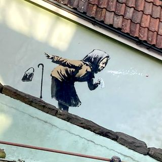 Banksy, murales contro il vaccino o la pandemia?