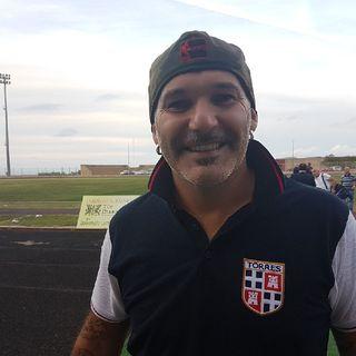 Tore Pinna dopo la gara di Coppa ITALIA Sorso - TORRES 2-2