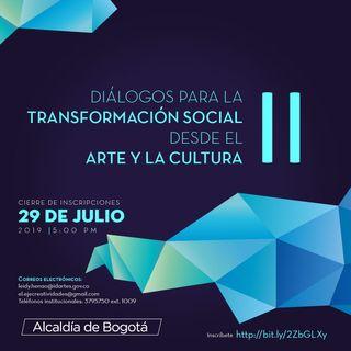 """Llega la II edición de 'Diálogos para la transformación social desde el arte y la cultura"""""""