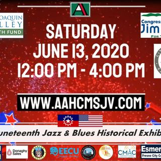 African-American Museum Juneteenth Jazz Blues Day 1-Pt 1-June 13-2020 (Central California)