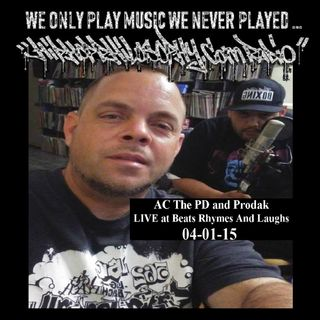 AC The PD and Prodak - LIVE at Beats Rhymes And Laughs 04-01-15 - HipHop Philosophy Recordings