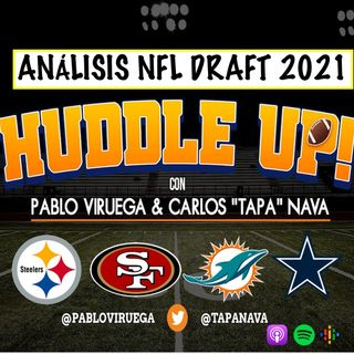 Análisis #NFLDraft #Steelers #Cowboys #49ers #Dolphins con @TapaNava y @PabloViruega