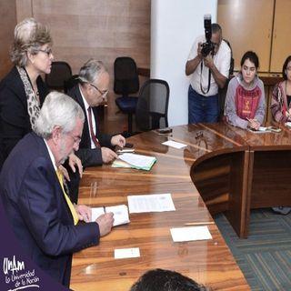 Graue firmó pliego petitorio de alumnos de CCH Azcapotzalco