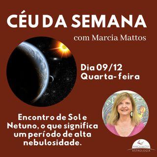 Céu da Semana - Quarta, dia 09/12: Encontro de Sol e Netuno, o que significa um período de alta nebulosidade.