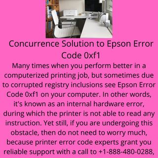 Concurrence Solution to Epson Error Code 0xf1