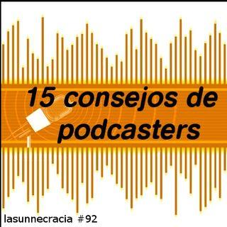 92 Los 15 consejos de podcasters