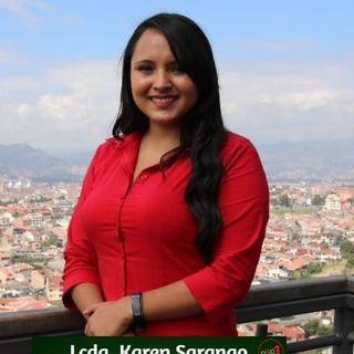El candidato: Karen Sarango, Partido Sociedad Patriótica
