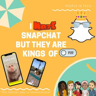 I hate💢 Snapchat 👻 but they are AR kings 👑