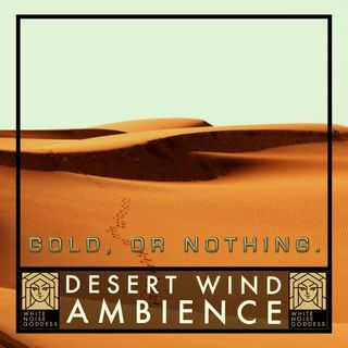 Desert Wind Ambience | White Noise | ASMR & Relaxation