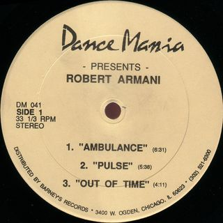 Robert Armani ‎- Out Of Time