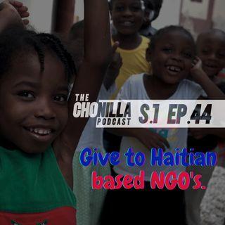 Give to Haitian based NGOs