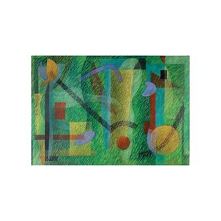 Fantasia Modernista Sobre Fundo Verde - Paulo Laender - An Art Trek