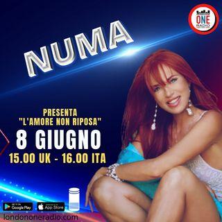 """Numa Palmer presenta """"L'amore non riposa"""""""