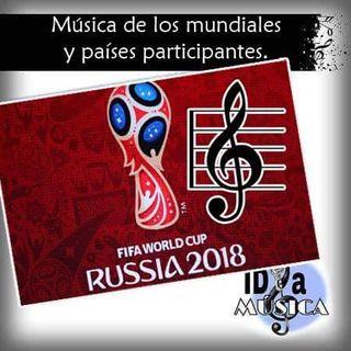 La música en los mundiales, y los países participantes.