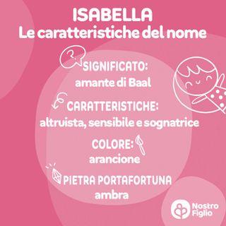 Isabella, nome. Significato, Origine, Onomastico