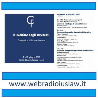 Il Welfare degi Avvocati - Convention Cassa Forense 9-10 giugno 2017
