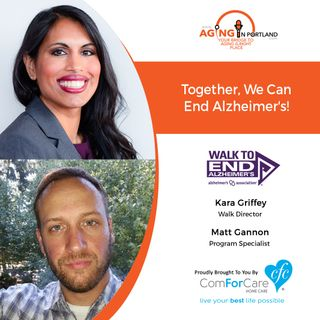 8/7/19: Kara Griffey and Matt Gannon from the Oregon & Southwest Washington chapter of the Alzheimer's Association