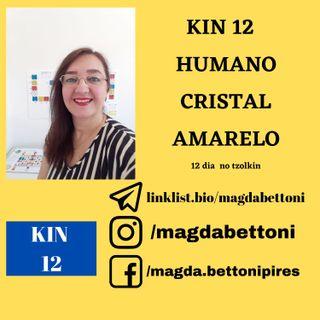 KIN 12  HUMANO CRISTAL AMARELO 1ª Onda Encantada do Tzolkin –  ONDA ENCANTADA DO DRAGÃO
