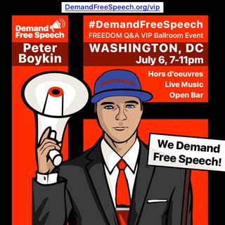 @PeterBoykin Suspended by Twitter Just another Conservative Silenced Who's Next? Let's #DemandFreeSpeech 11am July 6 in Washington DC