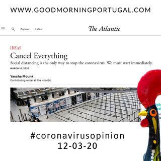 "Coronavirus opinion - The Atlantic: ""Cancel Everything"""