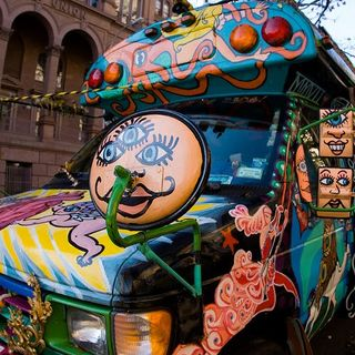 20th Century Man Rides The Magic Bus