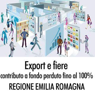 Export e fiere, contributo a fondo perduto fino al 100% dalla Regione Emilia Romagna