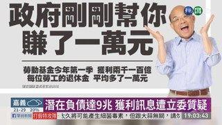 19:32 勞動基金首季獲利 退休金每人多1萬 ( 2019-05-04 )