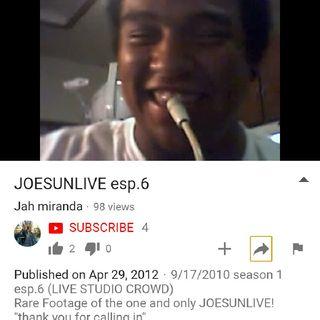 S.2 Esp.1 The Return Of Joe Sun Live Show