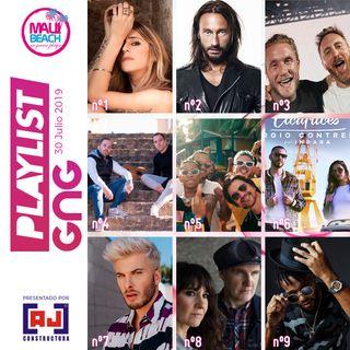 PLAYLIST GNG - Las 30 canciones más importantes del momento - 30 Julio 2019