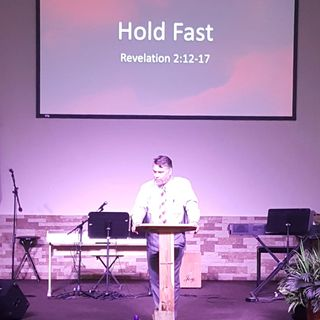 "Pastor Joe's sermon called ""Hold Fast"""