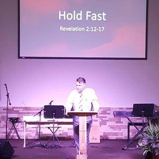 "Pastor Joe's sermon called ""Hold Fast"""