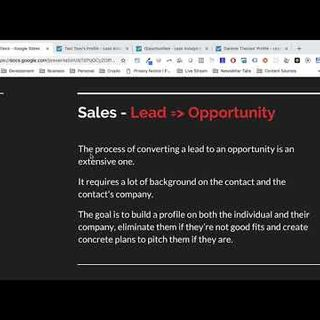 Business Development   What is a Sales Opportunity?