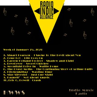 HWWS Indie Music Spotlight Top Ten 01252021