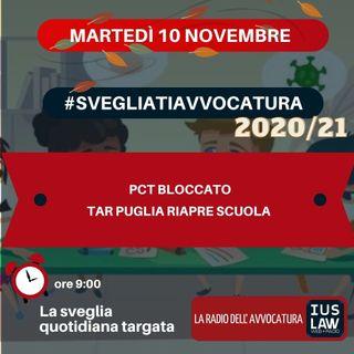 PCT BLOCCATO – TAR PUGLIA RIAPRE SCUOLA – #SVEGLIATIAVVOCATURA