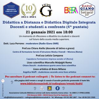 L'ACBLL presenta Didattica a Distanza e Didattica Digitale Integrata Docenti e studenti a confronto (4^ puntata)